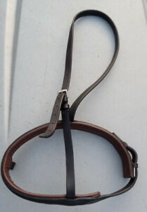 Good quality Padded Leather Flash cavesson noseband brown full size (no flash)
