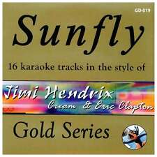 Sunfly Karaoke Gold CDG CD - Jimi Hendrix, Cream & Eric Clapton CD+G Disc *SALE*