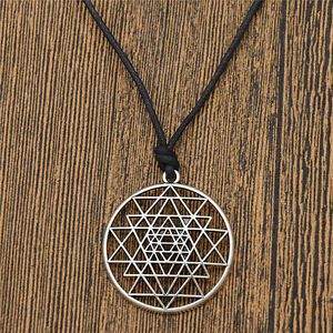 Details about Talisman Sri Yantra Pendant Necklace Sacred Geometry  Meditation Jewelry Unisex