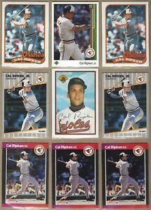 1989 CAL RIPKEN Jr Cards - 9 Card Lot - Topps, Donruss, Fleer, Bowman. UpperDeck