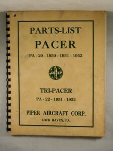 Details about PACER & TRI-PACER PARTS LIST 1950-1952 Piper Aircraft Lock  Haven, Pennsylvania