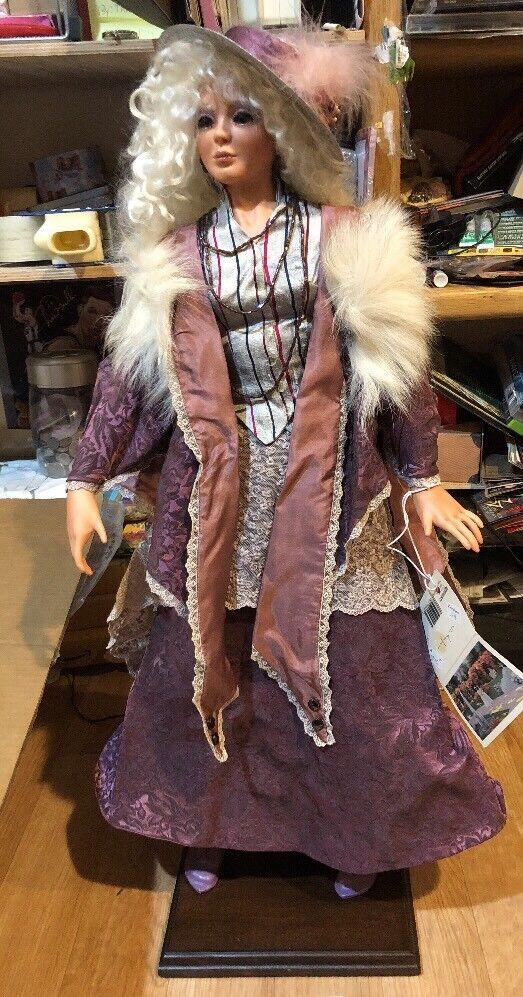 "Original Kathleen Hill Doll 26"" Jazel 5/7 Mohair Wig 1995 Rare Clothes 1918"