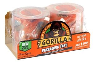 Gorilla-Clear-Packaging-Tape-Extra-Wide-72mm-x-27-Meters-Roll-Twin-Pack-Refill