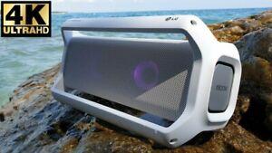New LG Xboom Go Pk7 Portable Bluetooth Enceinte Par Meridian PK7W Waterproof Led