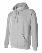 12 Gildan Sports Grey Adult Hooded Sweatshirts Bulk Wholesale Gray Hoodie S-XL