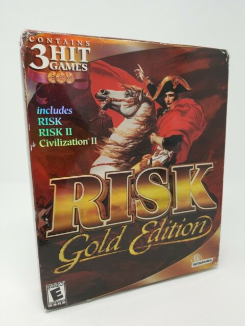 Risk: Gold Edition PC,  Big Box New Sealed Risk II & Civilization II