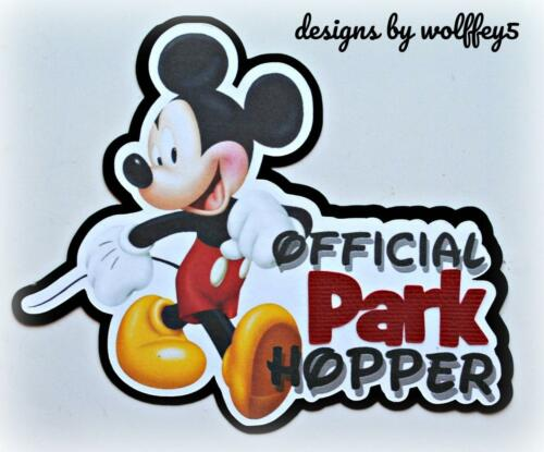 DISNEY KID TITLE premade paper piecing scrapbook diecut piece 3D art WOLFFEY5