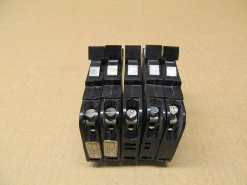 60 AVAIL LOT OF 5 USED FPE NC015 CIRCUIT BREAKER THIN TYPE NC 1P 15 AMP 15A