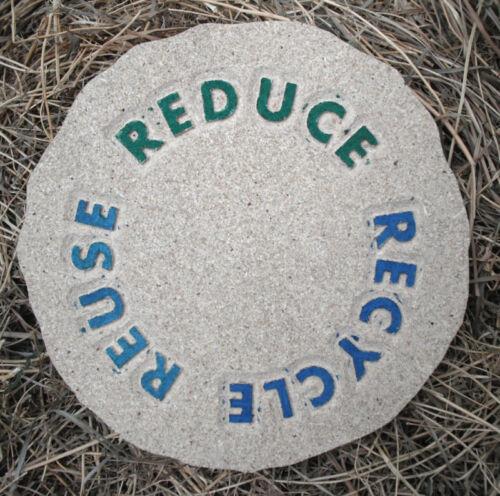 Recycle plaque plastic mold plaster concrete mould
