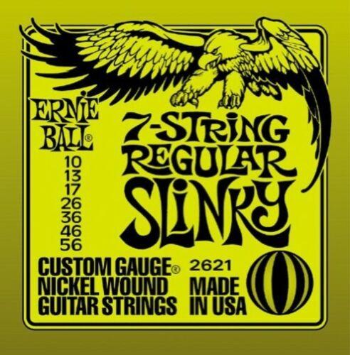 12 SETS Ernie Ball 7 String Regular Slinky 10-56 Guitar Strings 2621 Free Ship