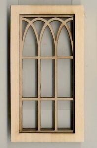 Window Gothic Arch 2117 Wooden Dollhouse Miniature 1