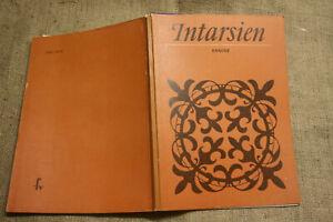 Fachbuch-Intarsien-Holzbilder-Holzkunst-Kunsthandwerk-Holz-DDR-1981