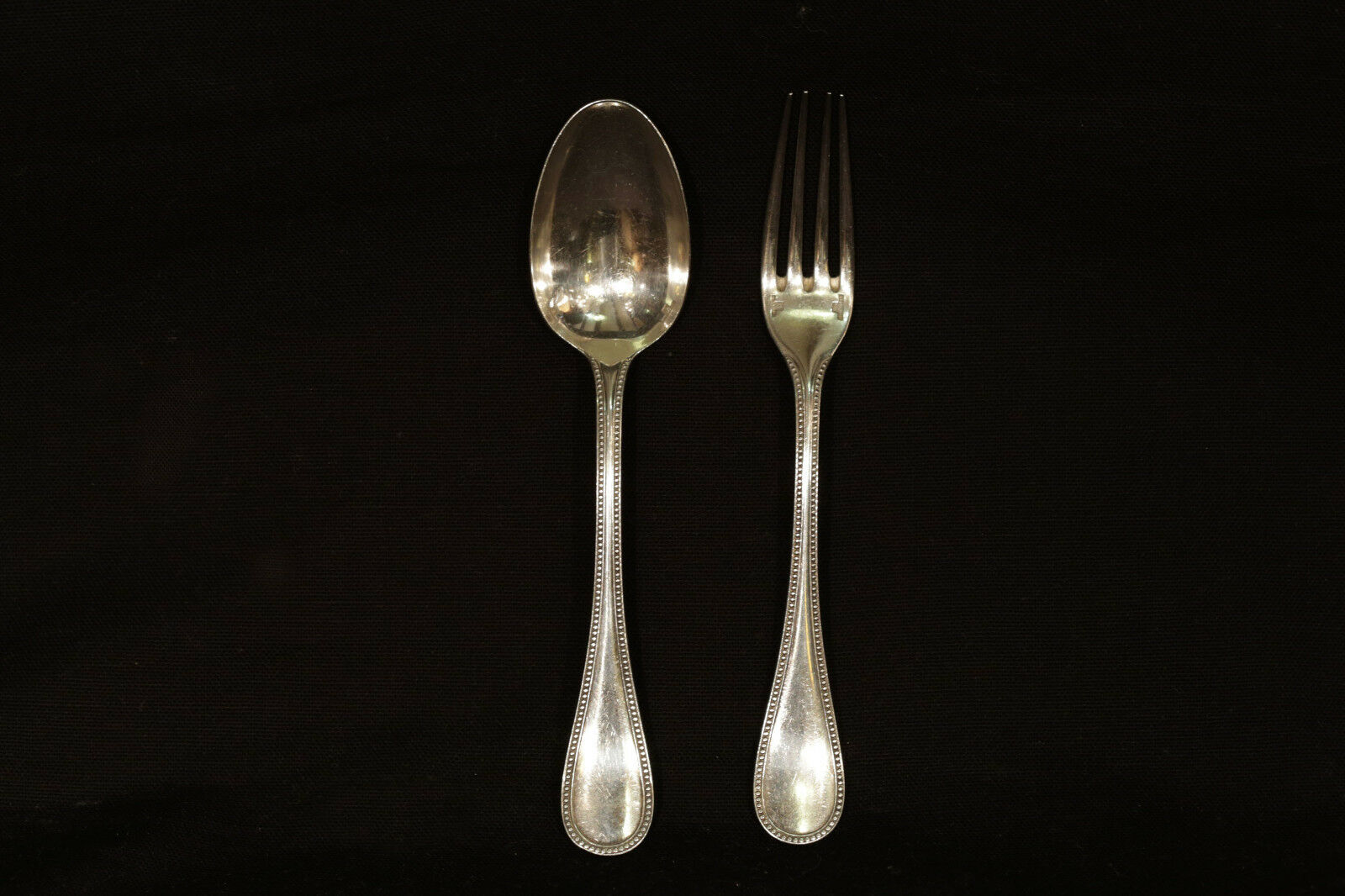 CouGrüns Christofle, fourchette + cuillère   cutlery signed Christofle
