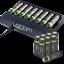 miniature 6 - Rechargeable Haute capacité AAA/AA Batteries Et 8-Way dock de chargement-Venom
