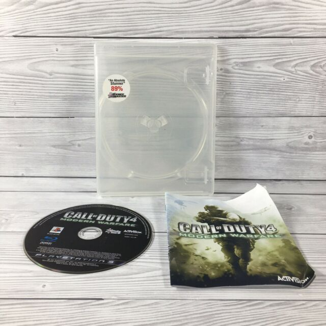 Call of Duty 4 Modern Warfare | Playstation 3 ps3-ohne Cover-Disk und Handbuch