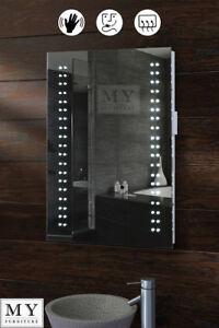 Image Is Loading Led Illuminated Bathroom Mirror Demister Shaver Sensor Opticon