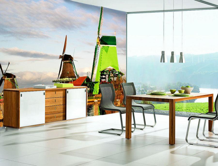 3D Windmühle Chalet 74 Tapete Wandgemälde Tapete Tapeten Bild Familie DE Summer | Verpackungsvielfalt  | Große Auswahl  | Bevorzugtes Material