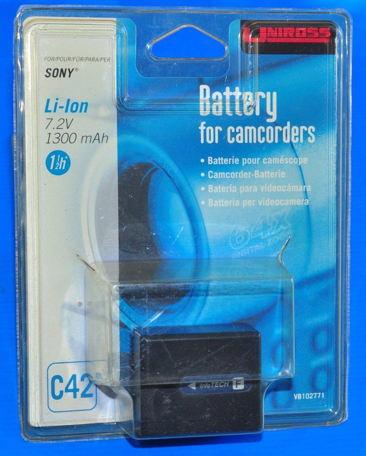 * uniross Battery c42 Camera Compatible Sony 7,2 V 1300 mAh *