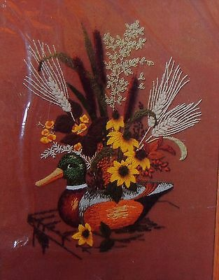 Retro Vtg Duck Decoy Crewel Embroidery Kit New Creative Circle Sealed Fall 0330