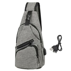 Mens Sling One Arm Bag Anti-Theft Backpack Crossbody Commute Travel Work Bag
