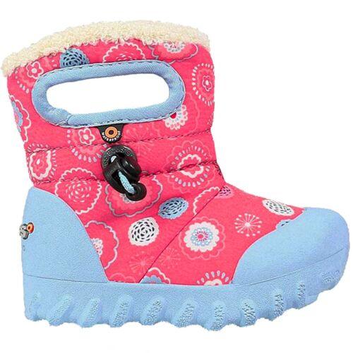GIRLS KIDS BOGS BMOC BULLSEYE PINK WATERPROOF WARM LINED WELLIES BOOT 724601 690