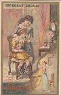 COQUETTERIE ENFANTS FILLETTES MIROIR ENFANTINA 1900s IMAGE CHROMO