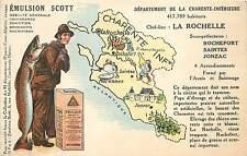 EMULSION SCOTT,Département de la Charente Maritime carte Publicitaire.(35)