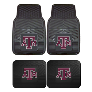 Texas-A-amp-M-University-2pc-amp-4pc-Mat-Sets-Heavy-Duty-Cars-Trucks-SUVs