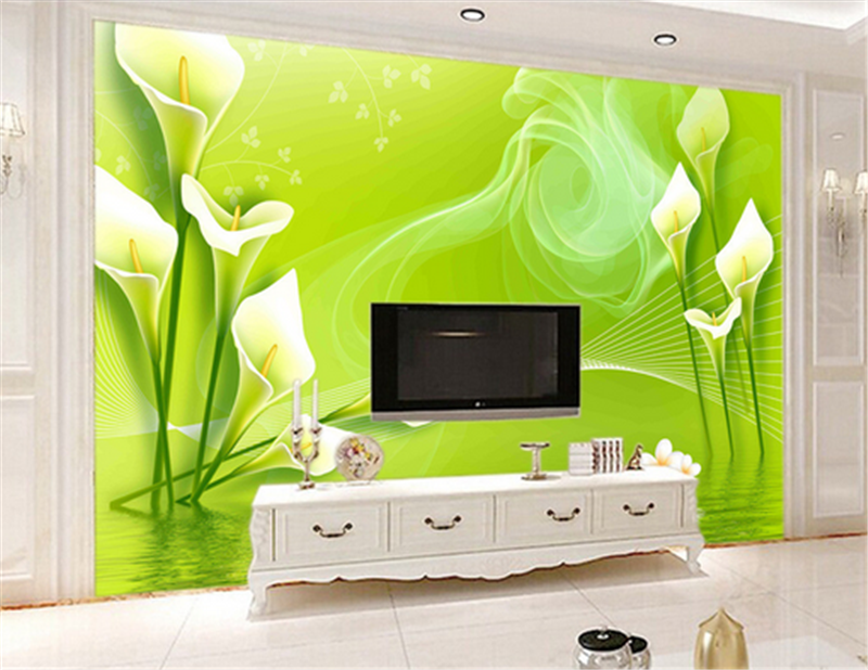 3D Grün Daffodils 773 Wallpaper Mural Paper Wall Print Wallpaper Murals UK