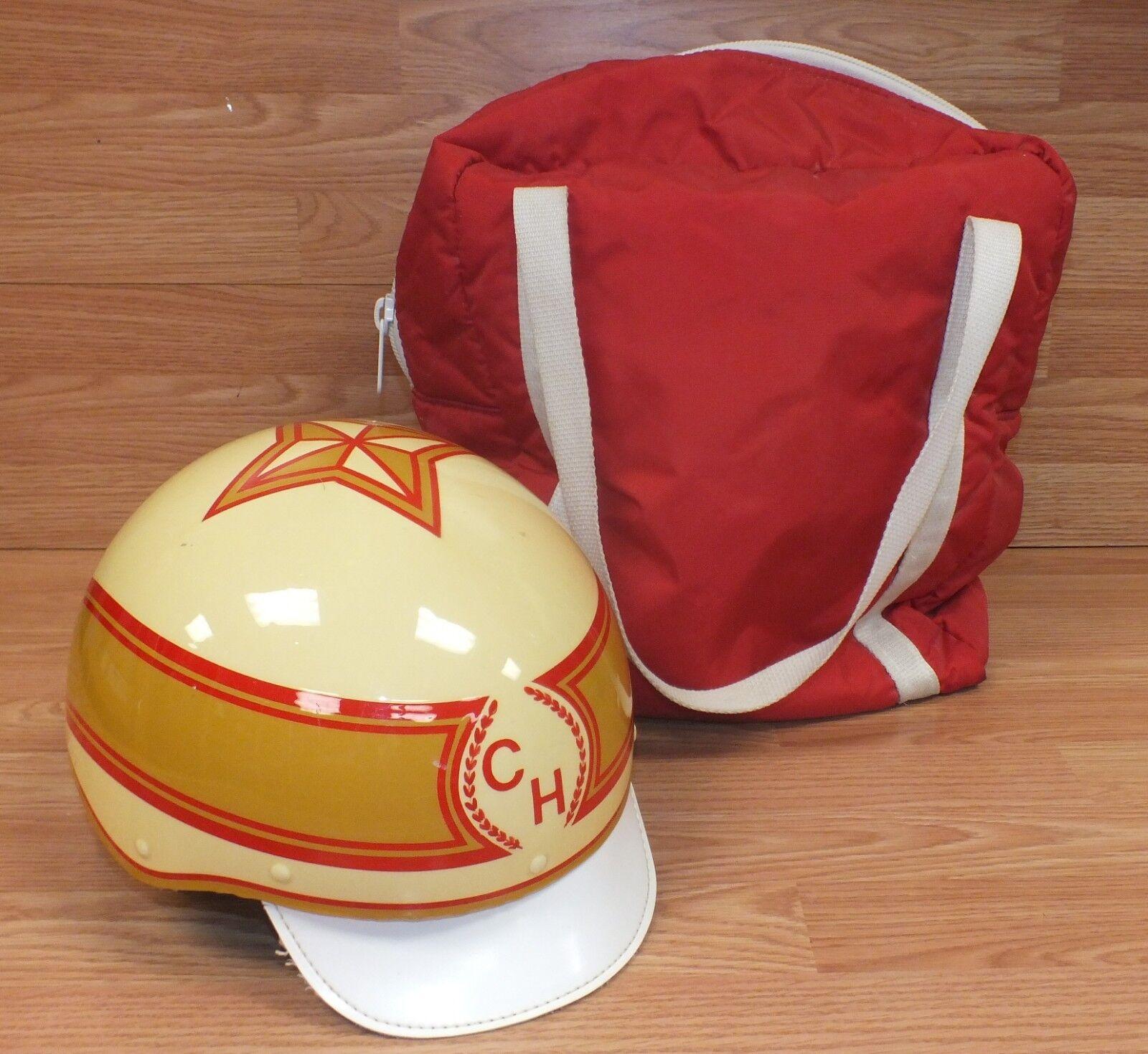 Genuine Vintage Howard Kincannon / Onell H84 Horse Racing Riding Helmet w/ Bag