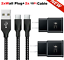 miniature 27 - 3/6/10FT Braided USB C Type-C Fast Charging Data SYNC Charger Cable Cord