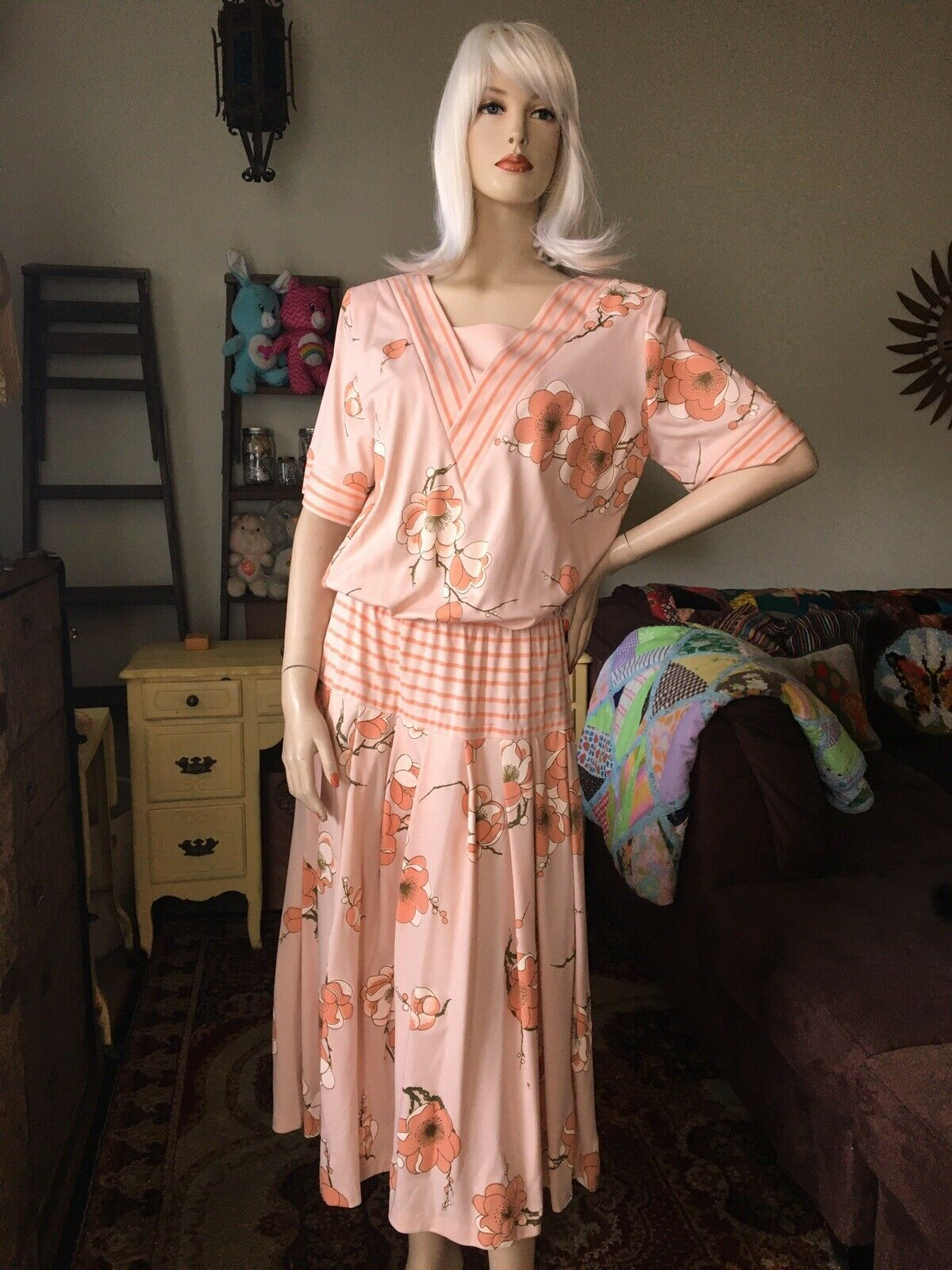 Vintage 1980's Alfred Shaheen Dress - image 1