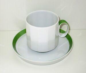 ROSENTHAL 2tlg GEDECK Tasse Teller Porzellan Polygon Sunion grün weiß Wirkkala
