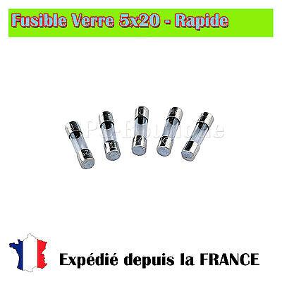250V 2A Rapide Action Rapide Tube En Verre Fusibles 6mm x 30mm 50Pcs