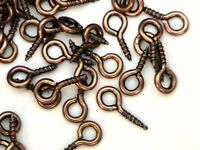 Copper Tone 8mm x 4mm Screw Eye Bails Jewellery Craft Findings * SELECT QUANTITY