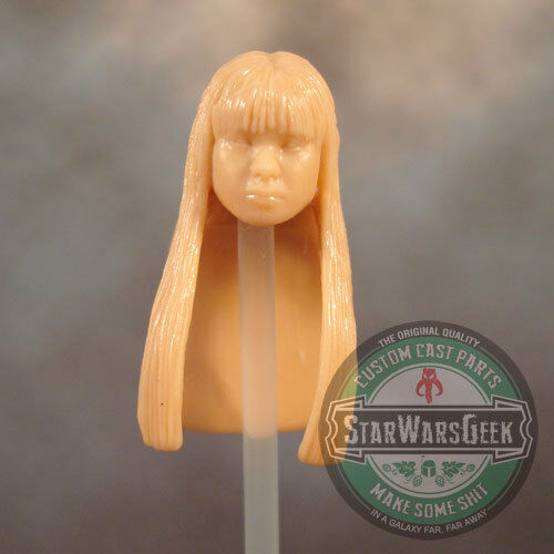 "FH091 Custom Cast Sculpt part Female head cast for use with 3.75/"" action figures"