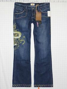Rise Blue A0329 Low 842303008549 Jeans Jopline 9 Pantaloni Denim Antik Bootcut Womens Juniors Nuovo wpIUqTp