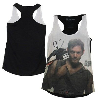 The Walking Dead Daryl Dixon Portrait Licensed Junior Oversized Tank Top S-XL