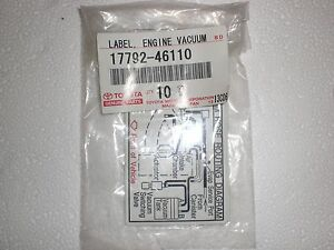 Terrific Lexus Is300 Vacuum Hose Routing Nameplate Sticker 17792 46110 New Wiring Cloud Hisonuggs Outletorg