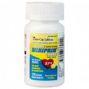 120-Aspirin-Low-Dose-Enteric-Coated-81-mg-120-bottle-Compare-To-Ecotrin-Sealed