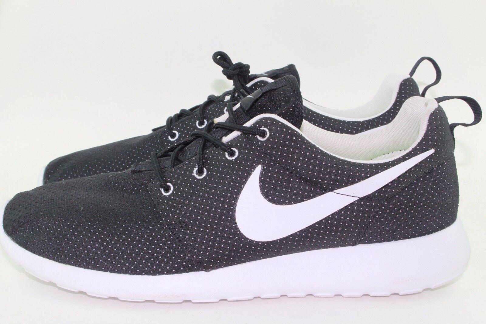 Nike rosherun uomini neri di dimensioni nuove rare autentico comodo correre bianco