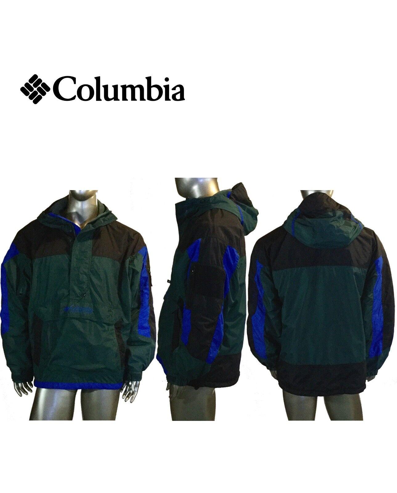 Vintage Columbia Maglione Giacca, con Fodera in Pile, Anni 90 90 Anni Uomo L, 9f4700
