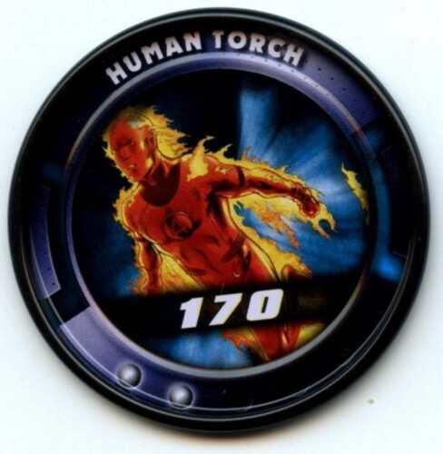 CA35 Human Torch #30 Of 84 Marvel Slingers 2011 Upper Deck Metal Medallion