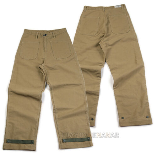 Men/'s Cotton N-1 Pants Trousers Straight Military Vintage High-waist Loose New