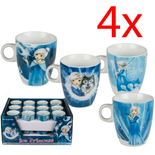 Lot de 4 8 cm princesse de glace Café Thé Boisson Tasse Cuisine Cadeau Tasses Cups
