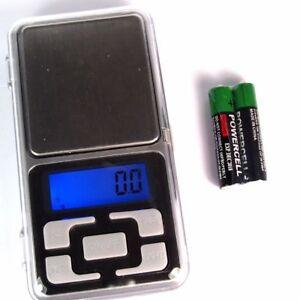 Digital-Goldwaage-0-01-200g-Feinwaage-Waage-Taschenwaage-Briefwaage-amp-Batterien