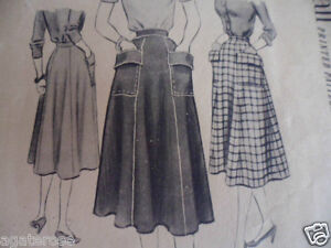 vintage-McCall-1940s-skirt-sewing-pattern-No-9494-cut-but-complete