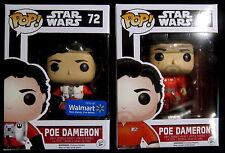 STAR WARS - Poe Dameron Jump Suit + Poe Without Helmet - 2 Figuren - Funko Pop!