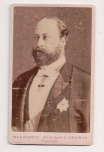 Vintage-CDV-King-Edward-VII-Great-Britain-W-amp-D-Downey-Photo