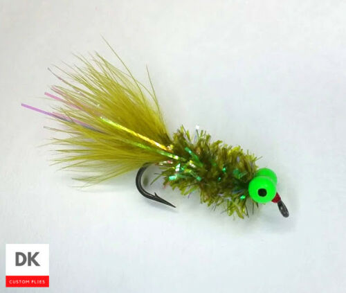 HOTSPOT Bully Bugger Olive Fly Fishing Sz 8-3 Flies Woolly Bugger